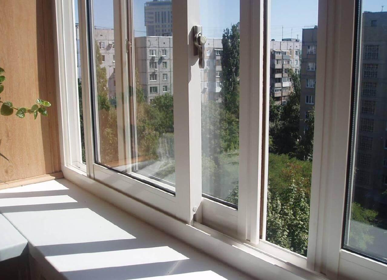 Балконное раздвижное окно