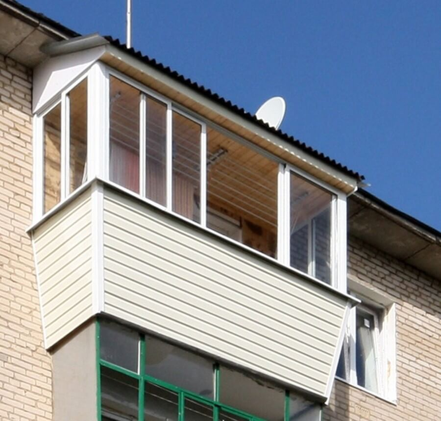 Остекление балконов с крышей своими руками чертежи и