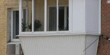 Балкон с выносом остекление