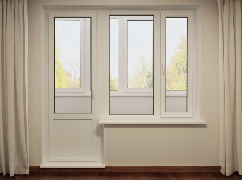 Балконные двери из ПВХ долговечны и относительно недороги