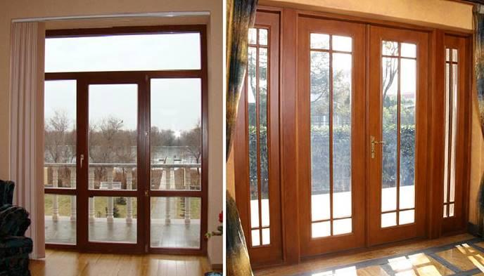 Варианты дизайна французских дверей