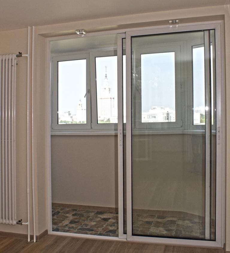 Раздвижные двери для балкона своими руками