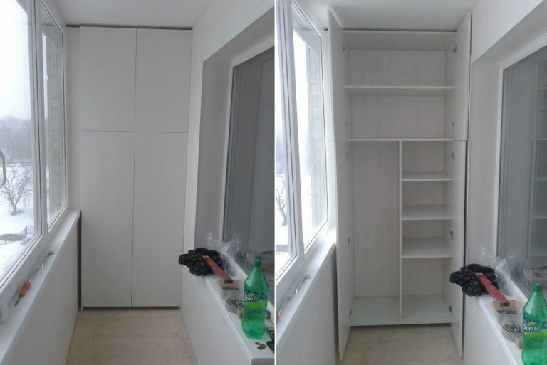 Шкаф на балкон или лоджию - изготовление мебели на заказ аст.