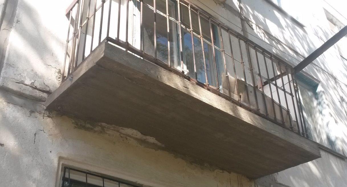 Отремонтированная балконная плита