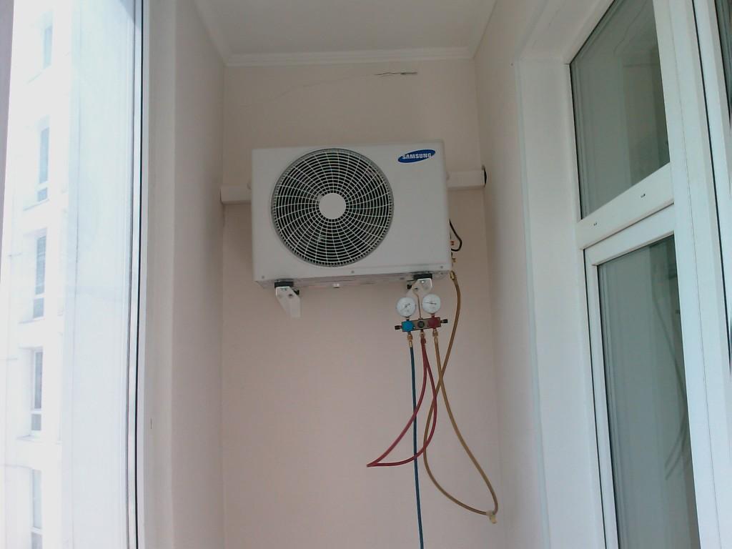 Установка кондиционера внутри балкона оборудование для установки кондиционера купить