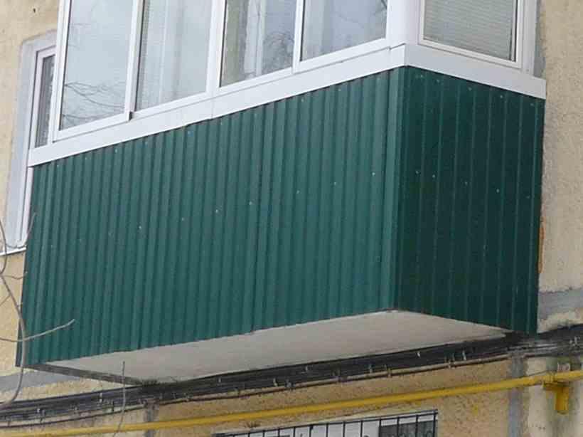 Внешняя отделка балкона - материалы и методика.