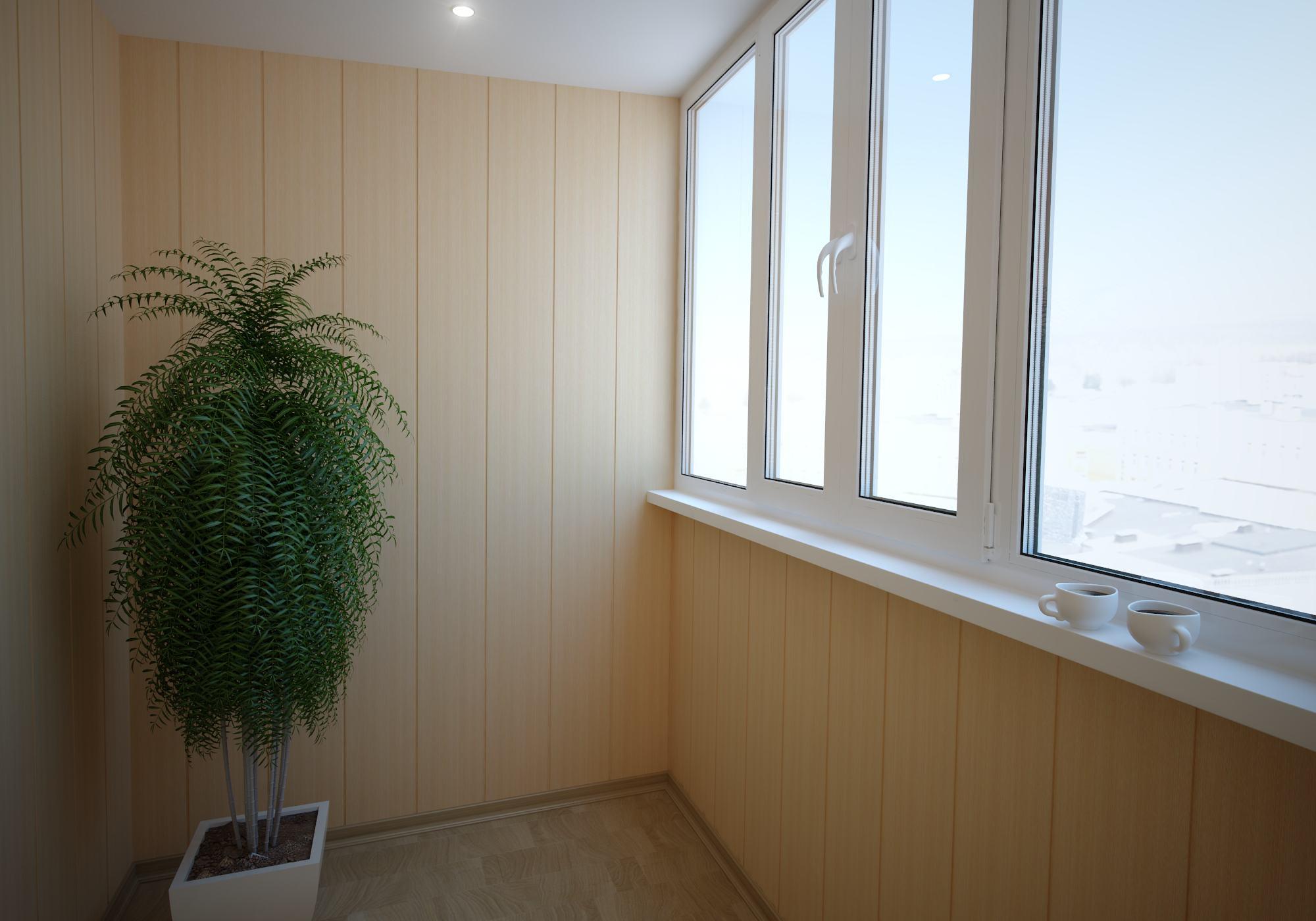 Отделка балконов и лоджий панелями пвх.