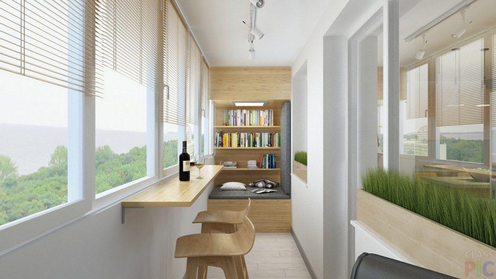 Барная стойка на балконе - идеи дизайна и материалы.