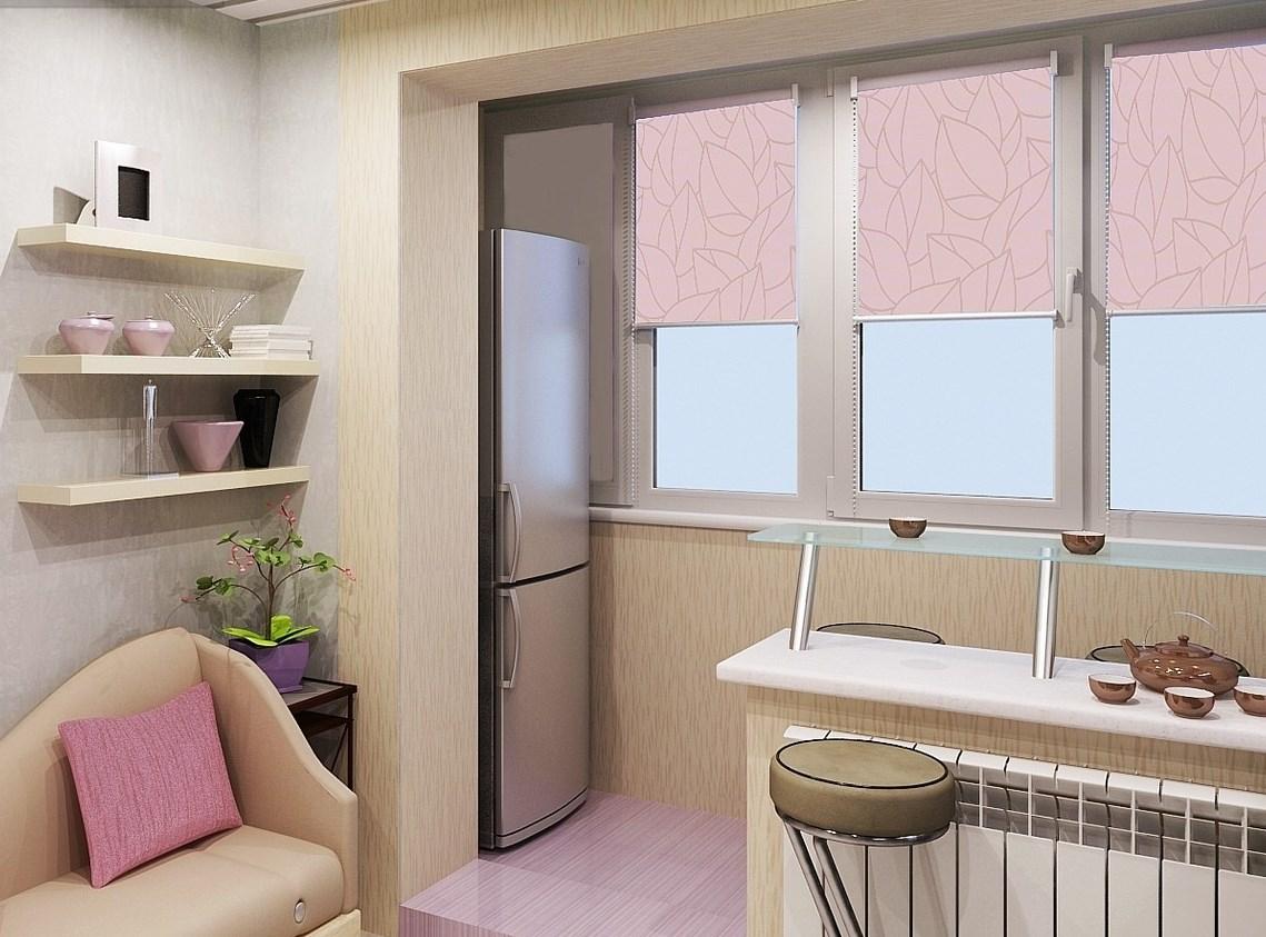 Холодильник на балконе