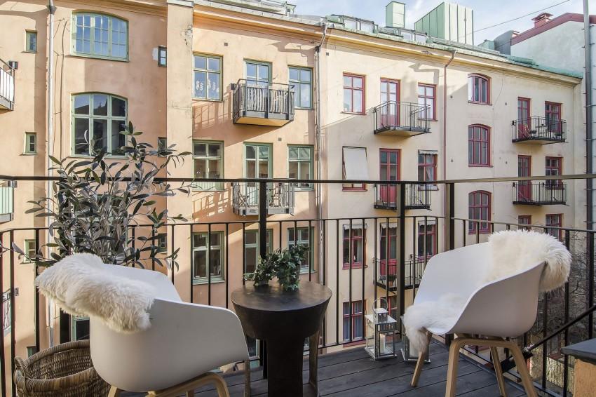 Лаконичный дизайн балкона
