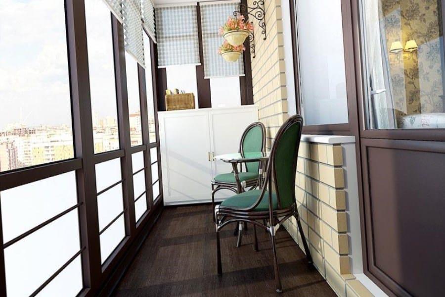 Отделка балконов и лоджий - фото, дизайн и применяемые матер.