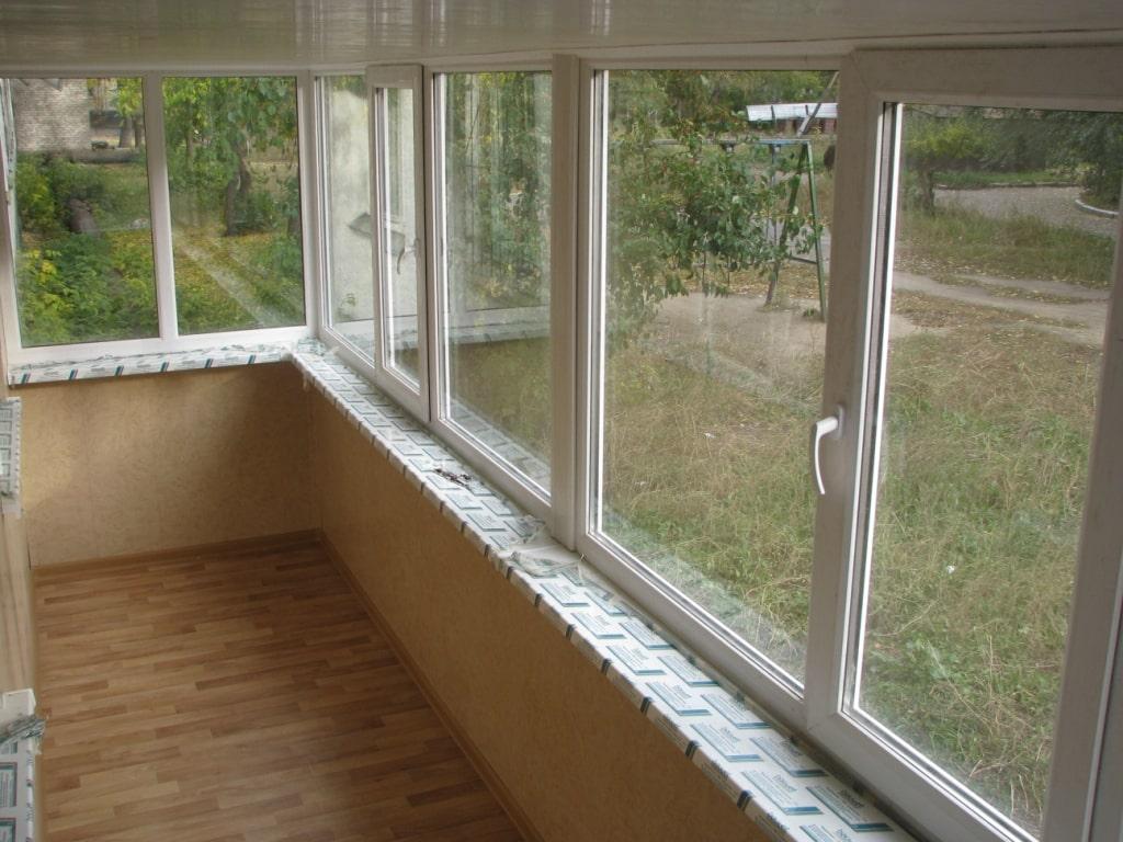 Отделанный балкон