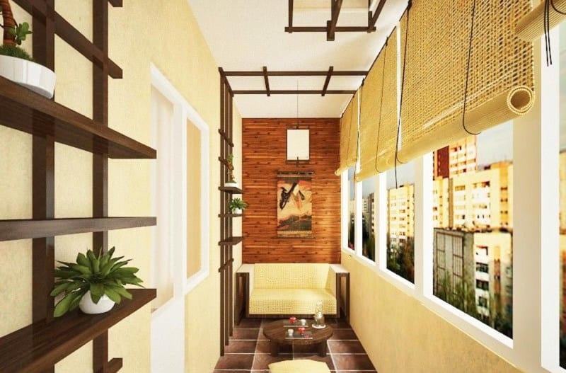 обустроенный балкон