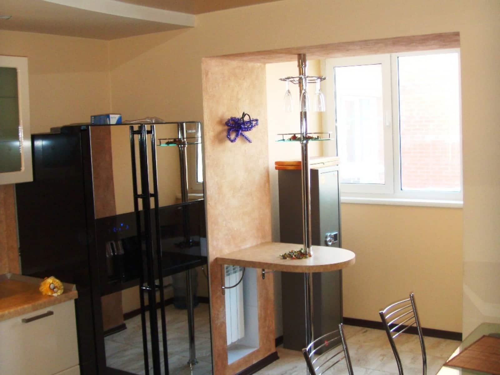Присоединение балконов или лоджий к комнате или кухне фото, .