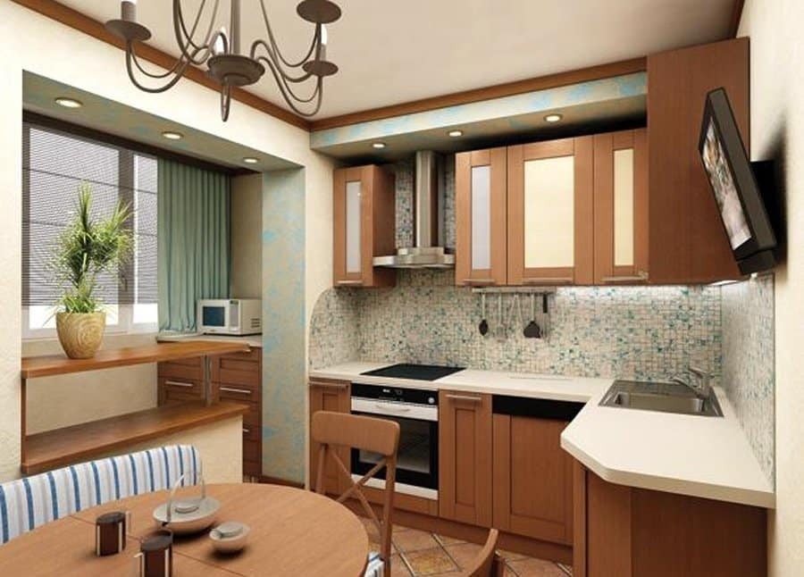 Кухня и лоджия