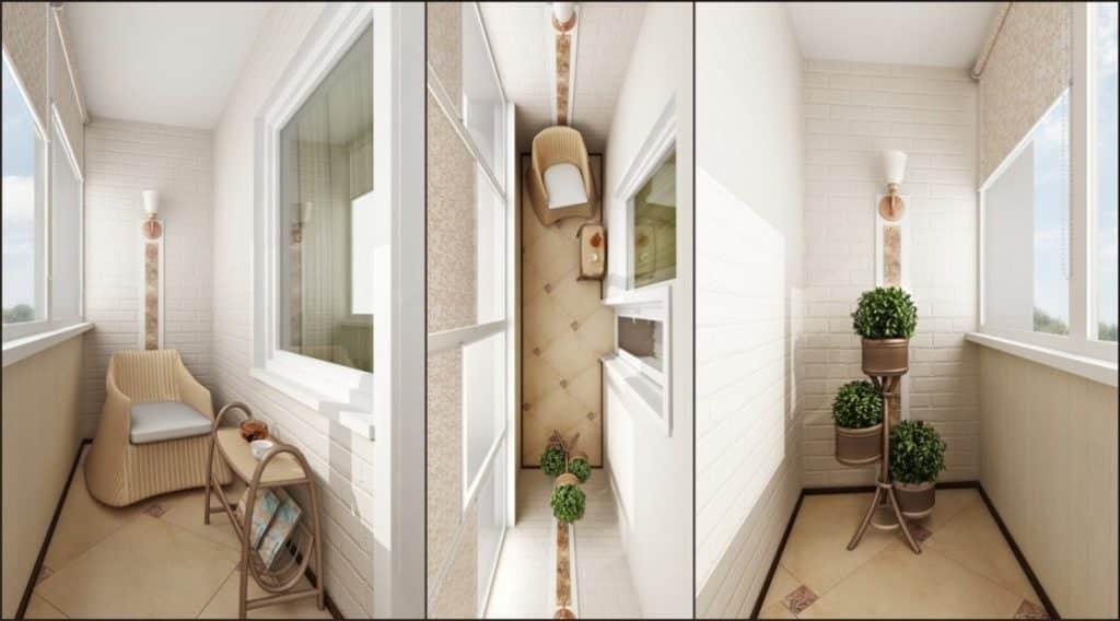 Стиль маленького балкона