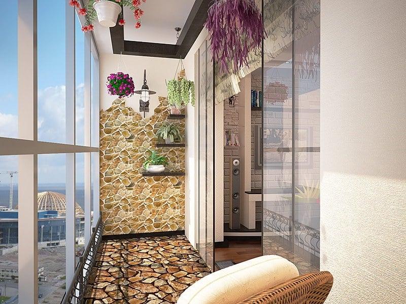 Оформление лоджии в квартире - фото и идеи дизайна.
