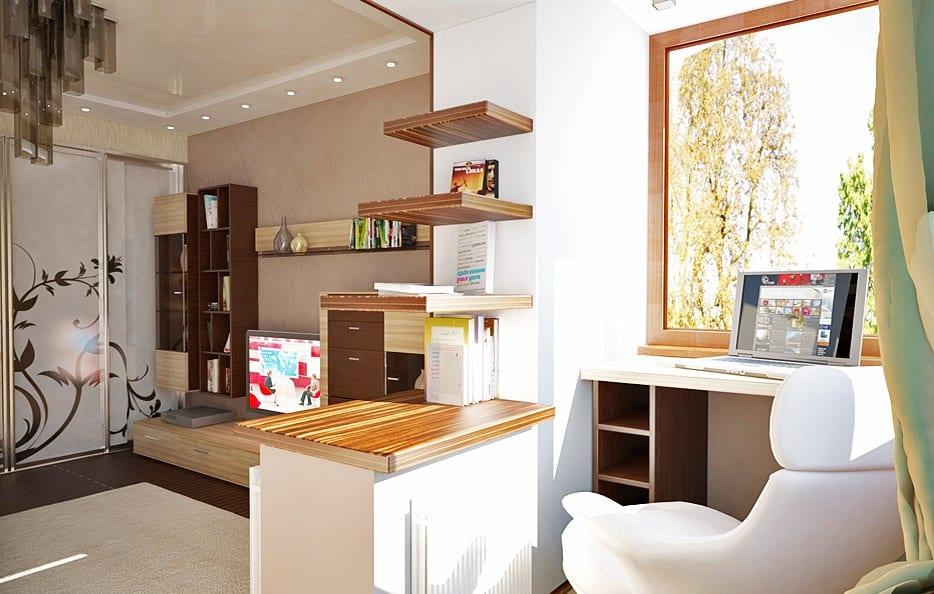 Присоединение лоджии к комнате: дизайн, фото вариантов.
