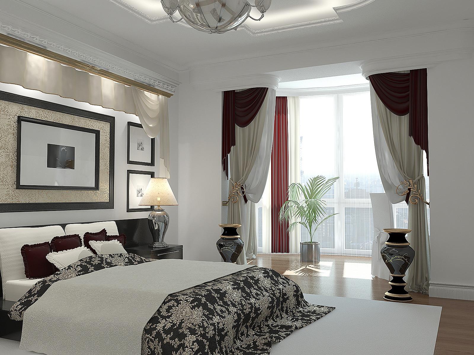 Объединенная с балконом спальня