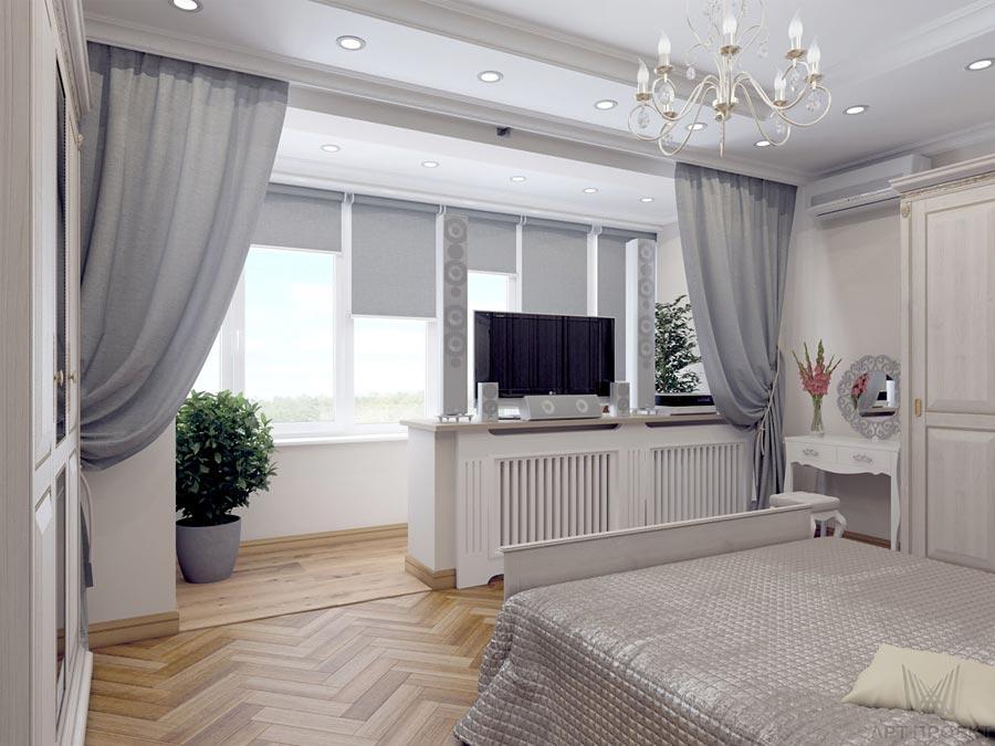 Спальня с лоджией