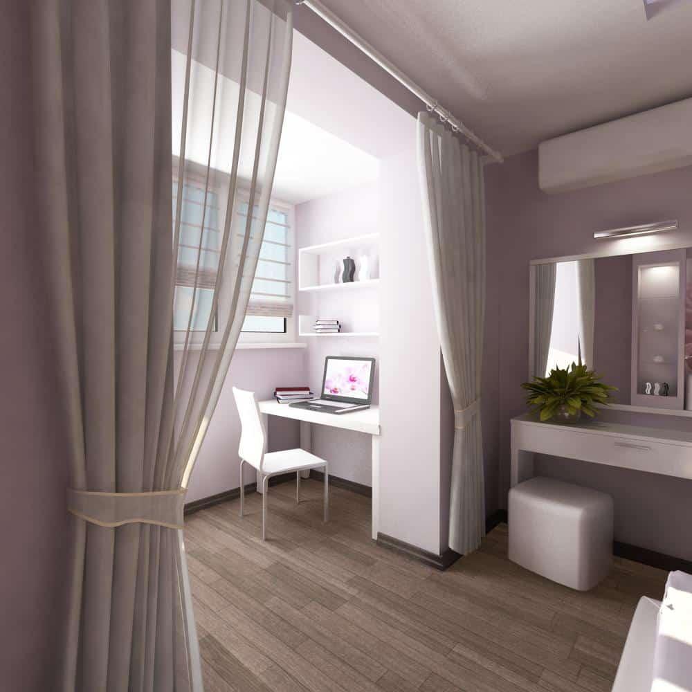 Спальня и лоджия