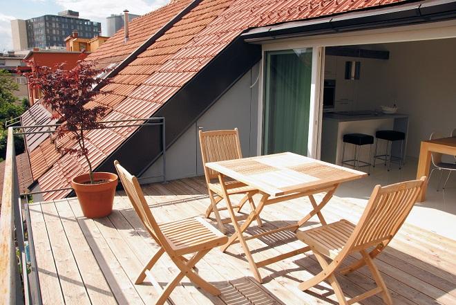 балкон на крыше